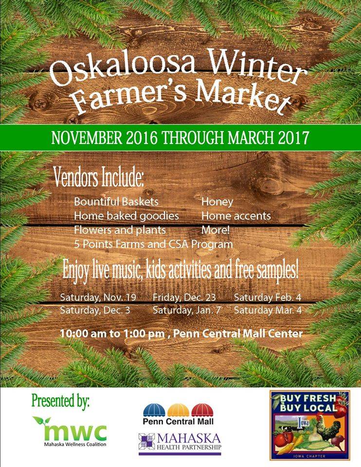Oskaloosa Winter Farmer's Market 2016-17